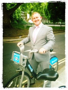 My mate with our Boris bikes