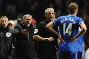 Jose isn't happy with Mr Foy (from www.standard.co.uk)